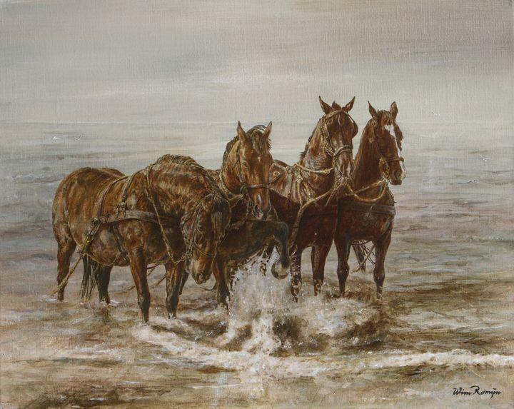 Lifeboat horses - Wim Romijn Art