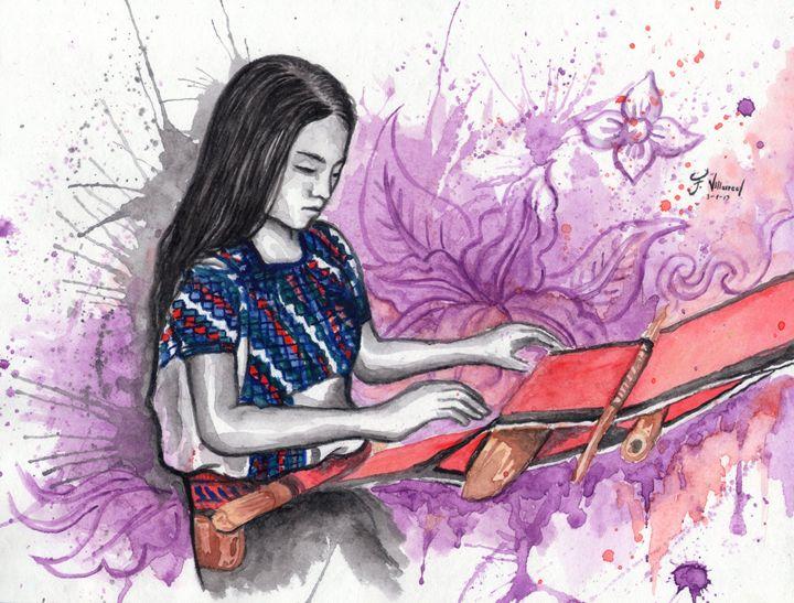 Weaver Girl Chiapas - Francisco Villarreal Gallery