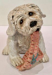 Rascal Ceramic Dog Sculpture