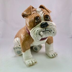 Porky Ceramic Dog Sculpture