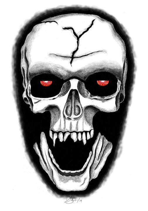 Grim Reaper Skull - Deb Johnston