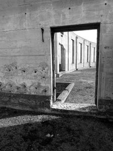 Doorway in Black and White