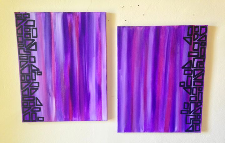 Two Piece Abstract Two - Betsy Carr Art