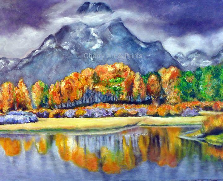 Montana Mountains, Wyoming - Original Art by Rita Cherry