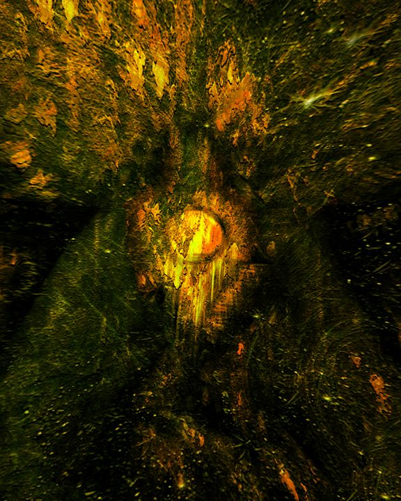 Seed of Doom I - A Rotting Tree - Abstract and surreal art