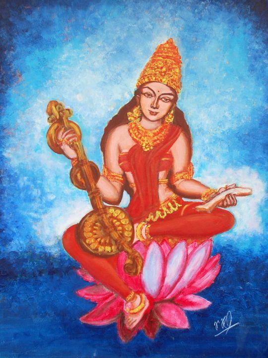 Goddess Saraswathi - Ramchandran Viswanathan