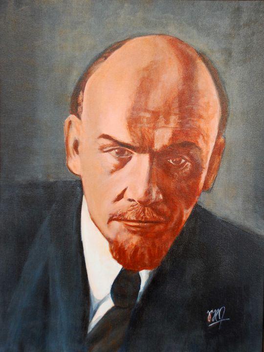 Vladmir Lenin Portrait - Ramchandran Viswanathan