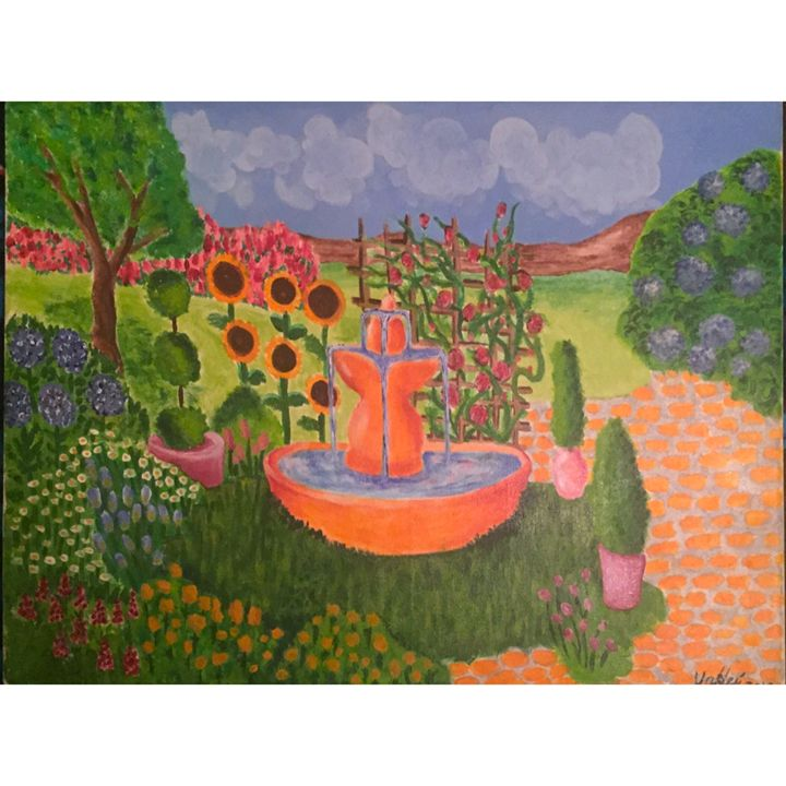 Fountain In the Garden - Vanessa Herrera