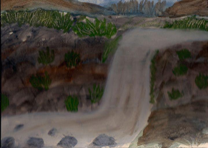 A serene waterfall - kalaanjali