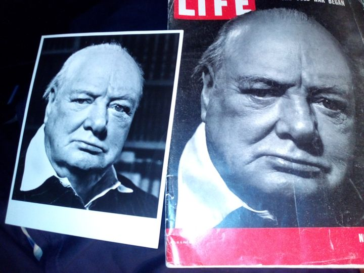 Winston Churchill - Philippe Halsman original historical Art Work