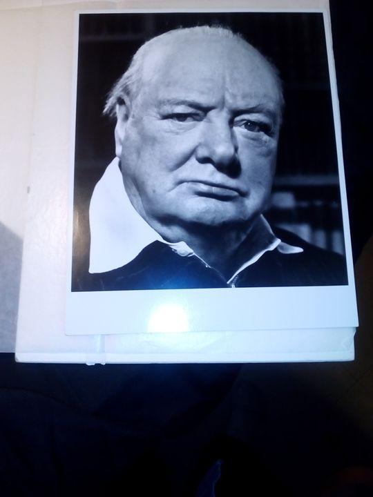 1951 original photograph of Winston - Philippe Halsman original historical Art Work