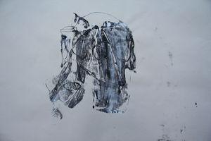Skull and chalice ink splat