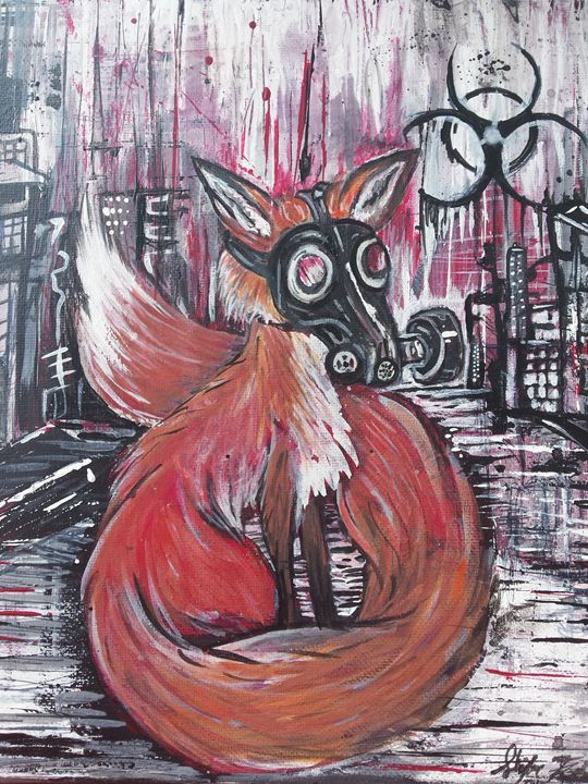 Fox in Gas mask - Skylar Fox