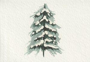 Snowy Tree I