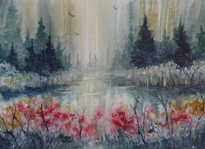 Deep Forest Pond - David K. Myers Watercolor/ Photo Gallery