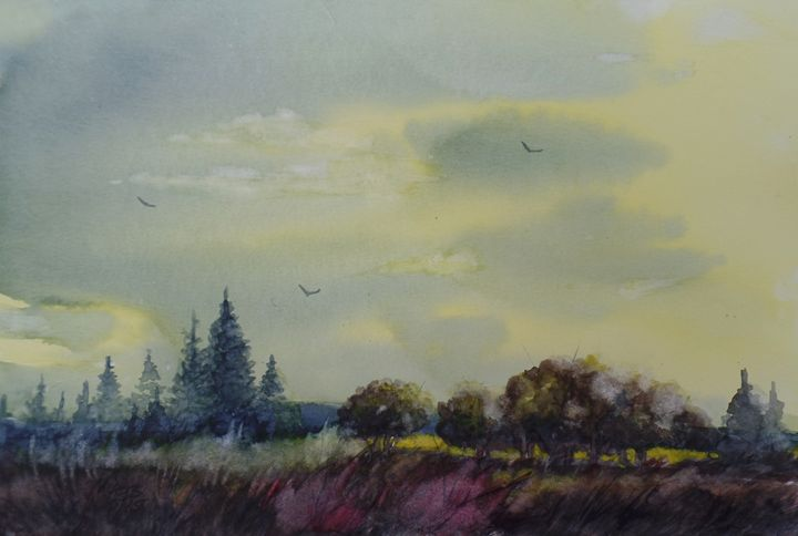 Yellow Sky - David K. Myers Watercolor/ Photo Gallery