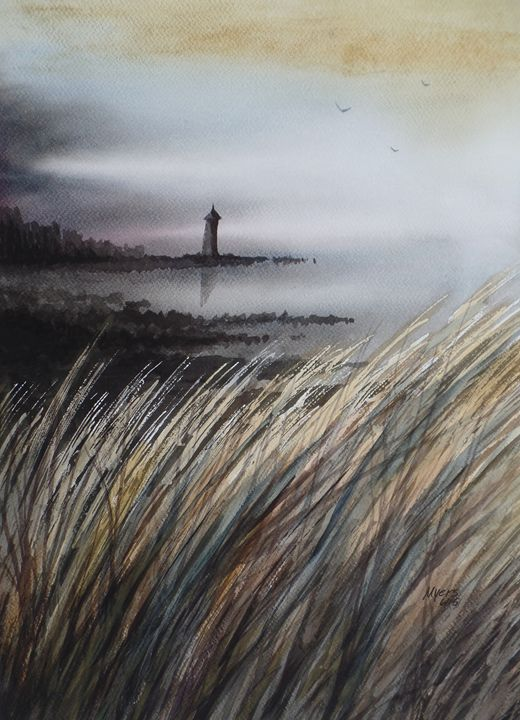 Reeds, Watercolor Painting - David K. Myers Watercolor/ Photo Gallery
