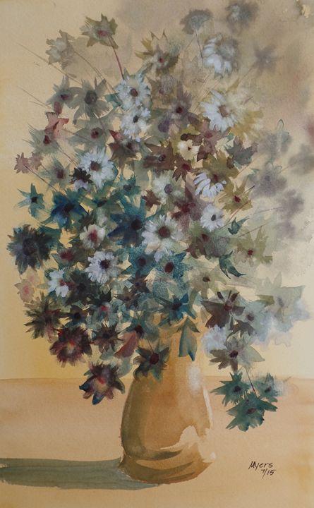 Flower Vase, Original Watercolor - David K. Myers Watercolor/ Photo Gallery
