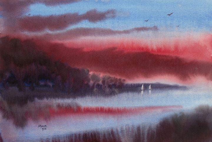 Coast, Abstract Original Watercolor - David K. Myers Watercolor/ Photo Gallery