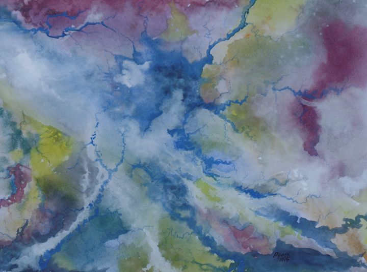 Water, Abstract Original Watercolor - David K. Myers Watercolor/ Photo Gallery