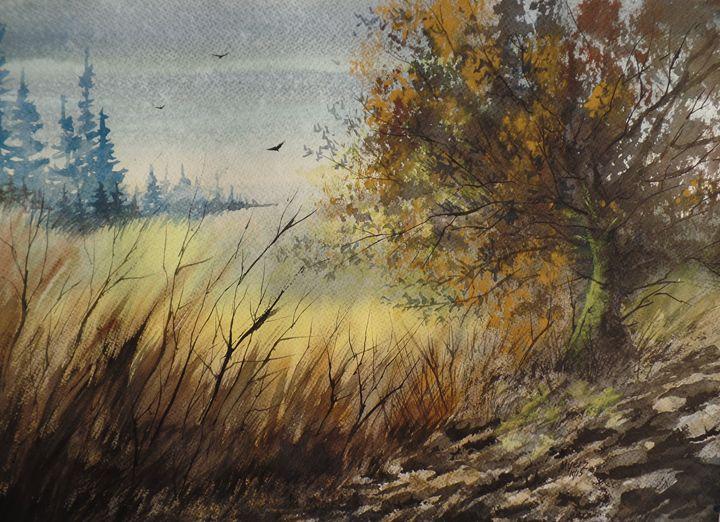 Old Oak, Original Watercolor - David K. Myers Watercolor/ Photo Gallery