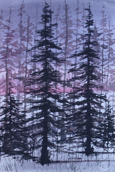 Forest, Original Watercolor - David K. Myers Watercolor/ Photo Gallery