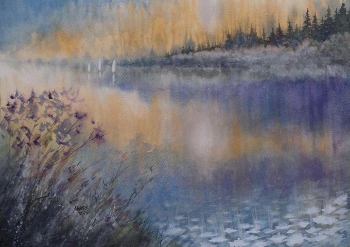 Lilies' Violet, Original Watercolor - David K. Myers Watercolor/ Photo Gallery