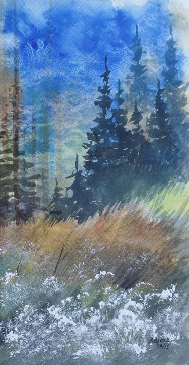 Wilderness 1, Original Watercolor - David K. Myers Watercolor/ Photo Gallery