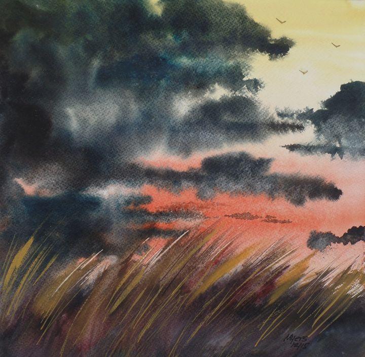 Beach Grass II, Original Watercolor - David K. Myers Watercolor/ Photo Gallery