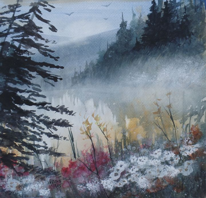 Up North, Watercolor Painting - David K. Myers Watercolor/ Photo Gallery