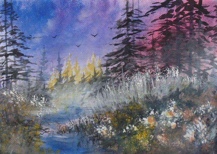 Wild Brambles, Watercolor Painting - David K. Myers Watercolor/ Photo Gallery