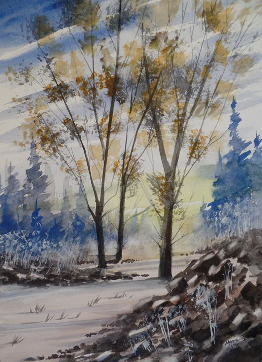 Early Snow, Watercolor Painting - David K. Myers Watercolor/ Photo Gallery