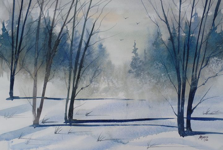 Winters Cold, Watercolor Painting - David K. Myers Watercolor/ Photo Gallery