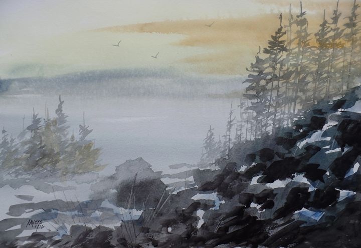 Mountain View, Watercolor Painting - David K. Myers Watercolor/ Photo Gallery