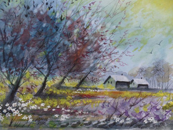 Rain Near, Watercolor Painting - David K. Myers Watercolor/ Photo Gallery