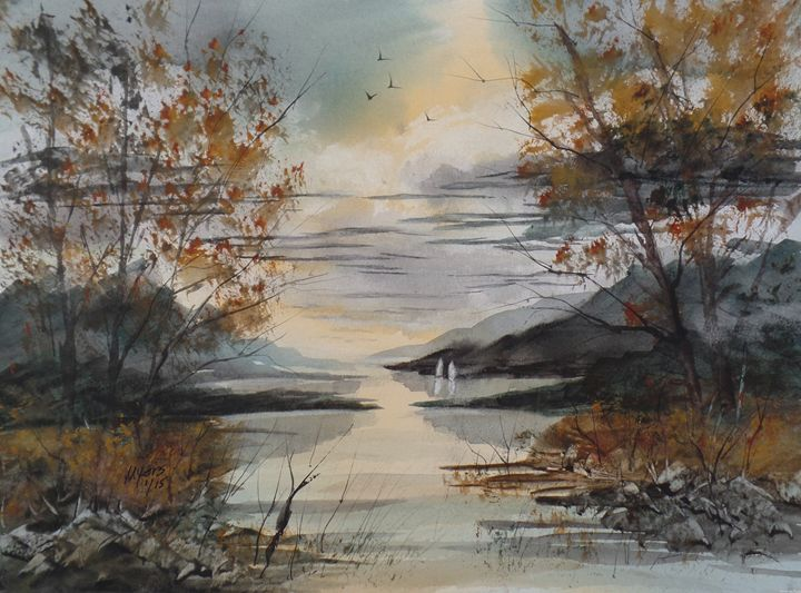 Mountain Lake - David K. Myers Watercolor/ Photo Gallery