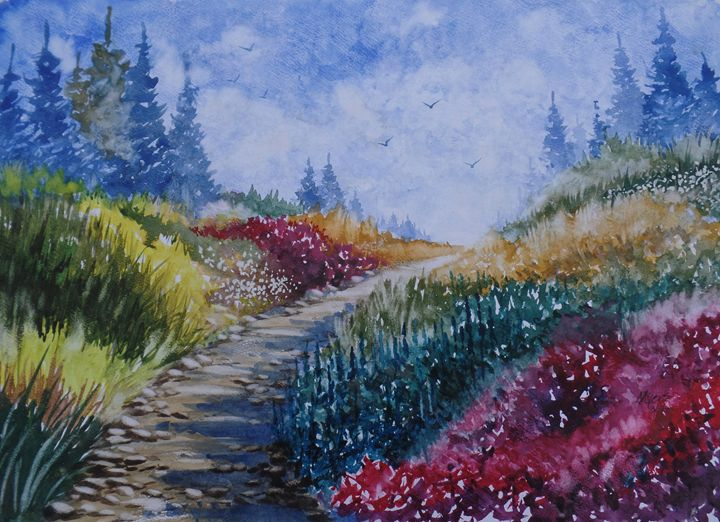The Last Path, Watercolor Painting - David K. Myers Watercolor/ Photo Gallery