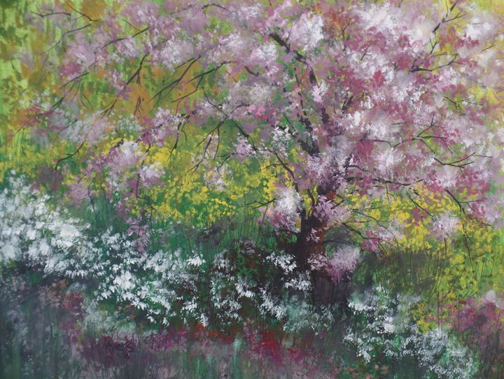 Our Old Crab Tree, Gouache Painting - David K. Myers Watercolor/ Photo Gallery