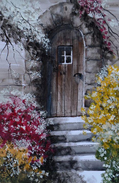 Back Door, Gouache Painting - David K. Myers Watercolor/ Photo Gallery