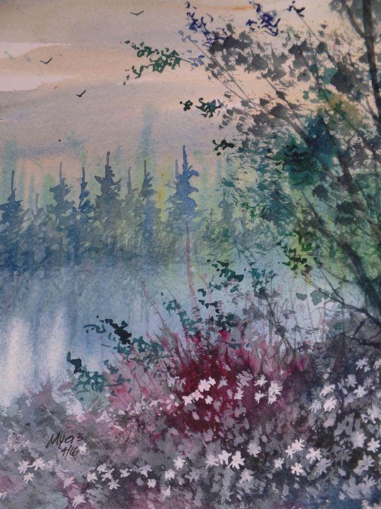 Evening Walk, Watercolor Painting - David K. Myers Watercolor/ Photo Gallery