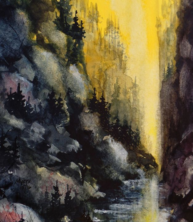 Canyon, Watercolor Painting - David K. Myers Watercolor/ Photo Gallery