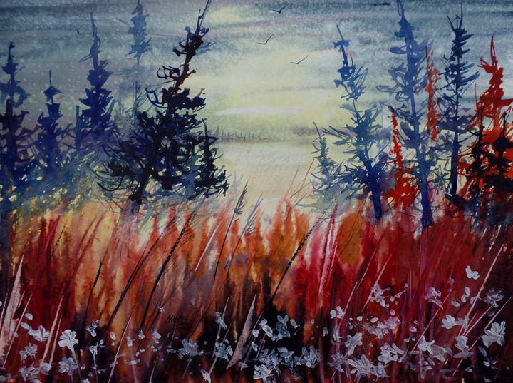 Swamp Trees, Watercolor Painting - David K. Myers Watercolor/ Photo Gallery