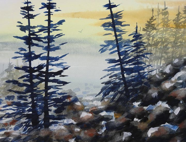 Mountain View 2, Watercolor Painting - David K. Myers Watercolor/ Photo Gallery
