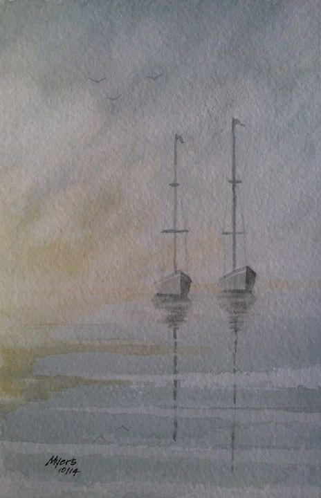 Two Sail Boats - David K. Myers Watercolor/ Photo Gallery