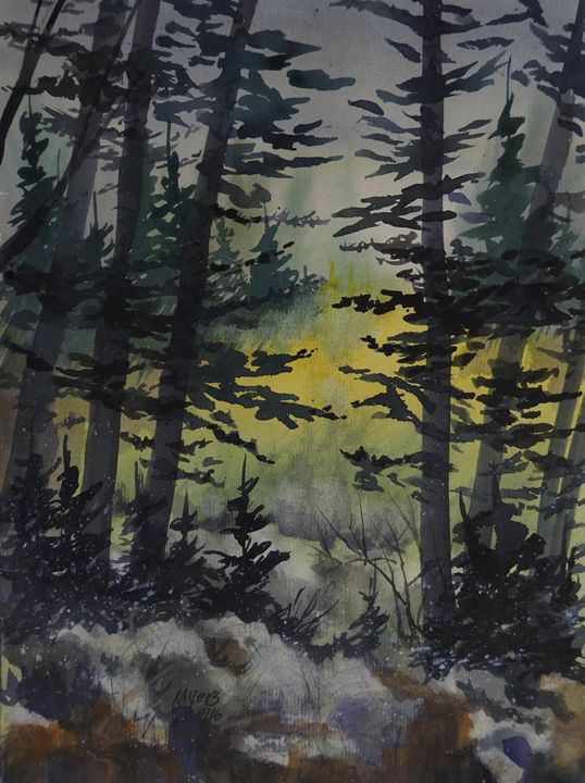Manistee National Forest, Watercolor - David K. Myers Watercolor/ Photo Gallery