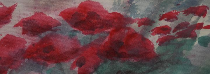 Poppies, Watercolor Painting - David K. Myers Watercolor/ Photo Gallery
