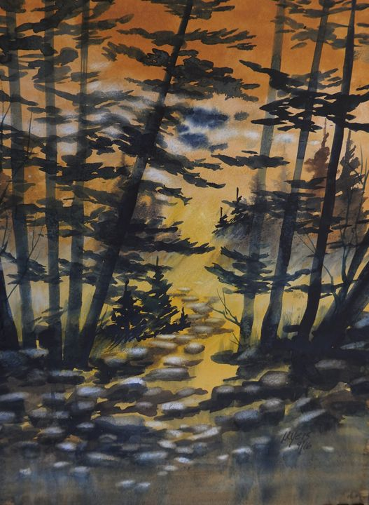 Manistee National Forest, 2 - David K. Myers Watercolor/ Photo Gallery