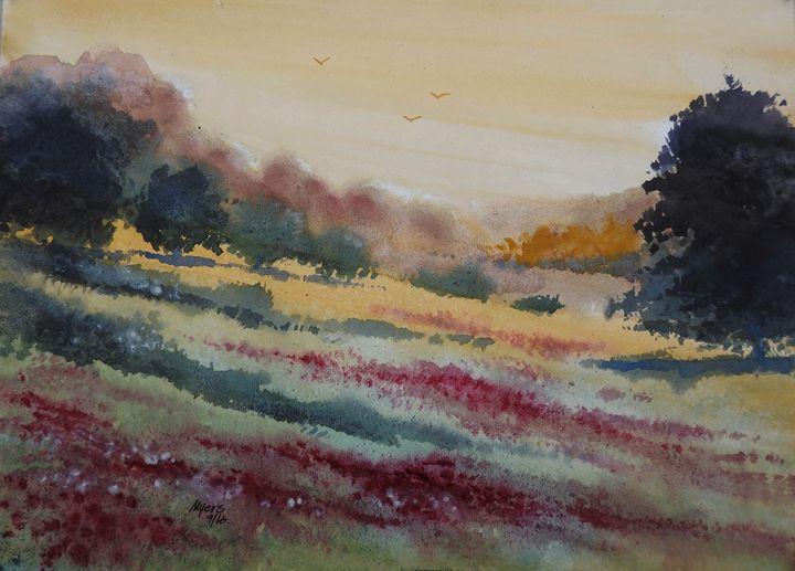 Meadow Flowers, Watercolor Painting - David K. Myers Watercolor/ Photo Gallery