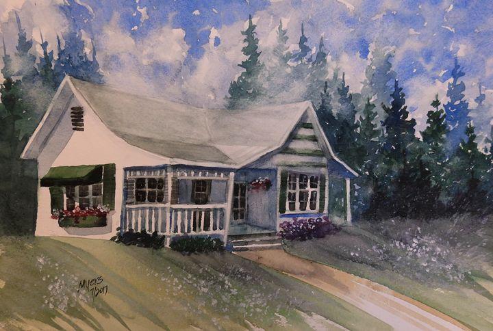 Summer Cabin Watercolor - David K. Myers Watercolor/ Photo Gallery