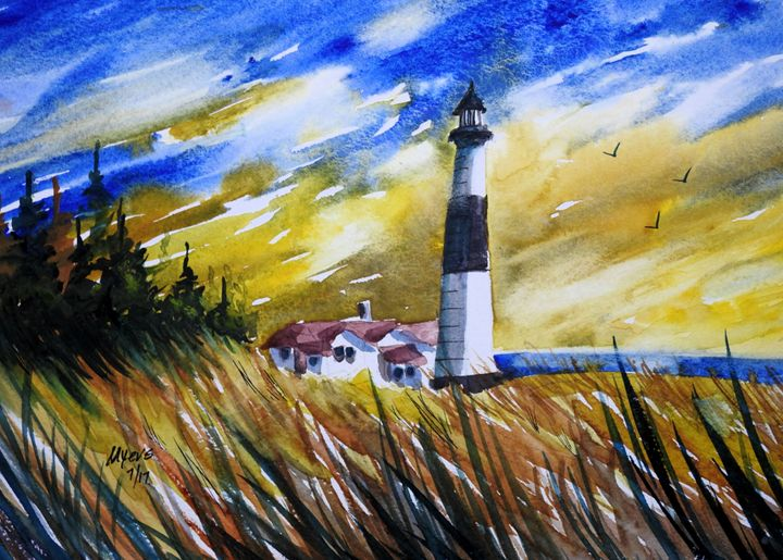 Big Sable Point Light 2 - David K. Myers Watercolor/ Photo Gallery